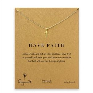 Dogeared Jewelry - Dogeared Have Faith Cross Dainty Tiny Necklace